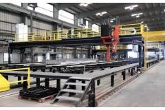铝制气垫船面板自动焊接