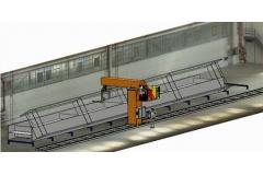 建筑梁机器人焊接和切割系统