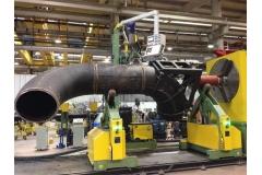 单座式变位机管管法兰弯头自动环缝焊接机