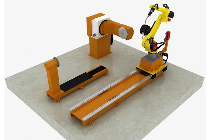 建筑升降机部件机器人焊接系统