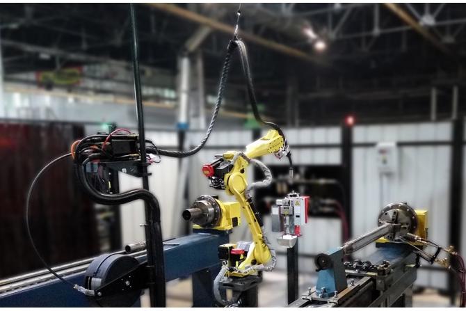 油缸机器人焊接系统(带预加热)