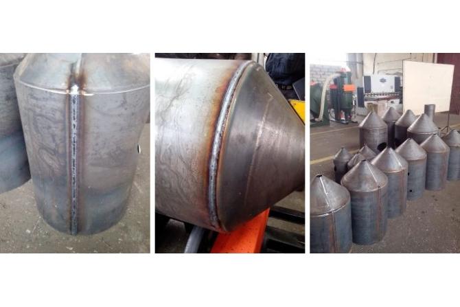 锥形容器纵环缝焊接专机