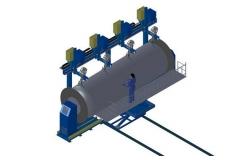 气体罐/空气罐压力容器罐自动环缝焊接机(四枪)