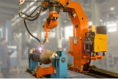 喷砂机容器机器人焊接切割工作站